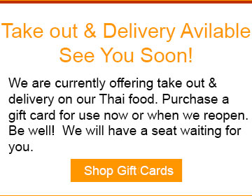 Takeout and Delivery Available